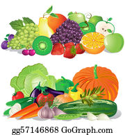 Fruit And Vegetables Clip Art.