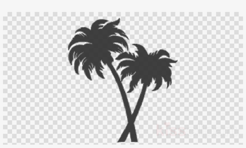 Download Silhouette Two Palm Tree Png Clipart Palm.