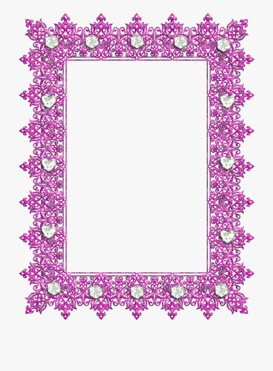 Pink Transparent Frame With Diamonds.