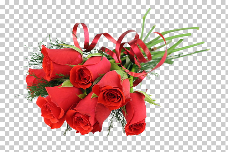 Flower bouquet Gift , Seven bouquets of roses PNG clipart.