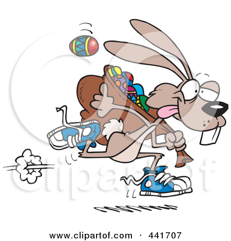 Clipart Images Of The Easter Bunnies Running.