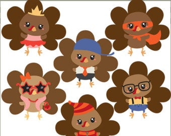 Thanksgiving Clipart Turkeys in the Kitchen Personal and.