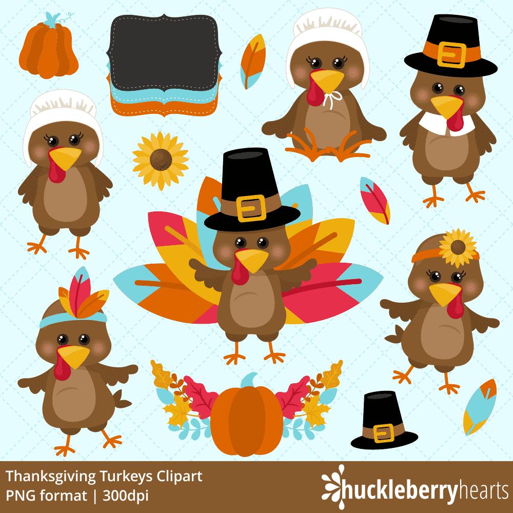 Thanksgiving Turkeys Clipart.