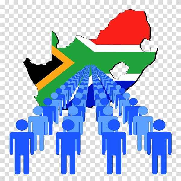 Immigration , Human and South Africa Map transparent.