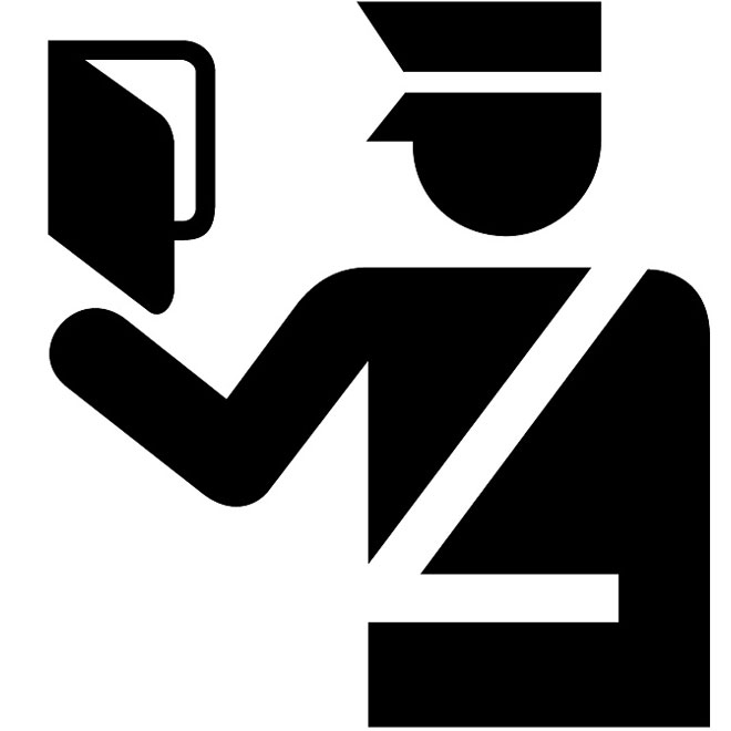 Immigration office vector sign.
