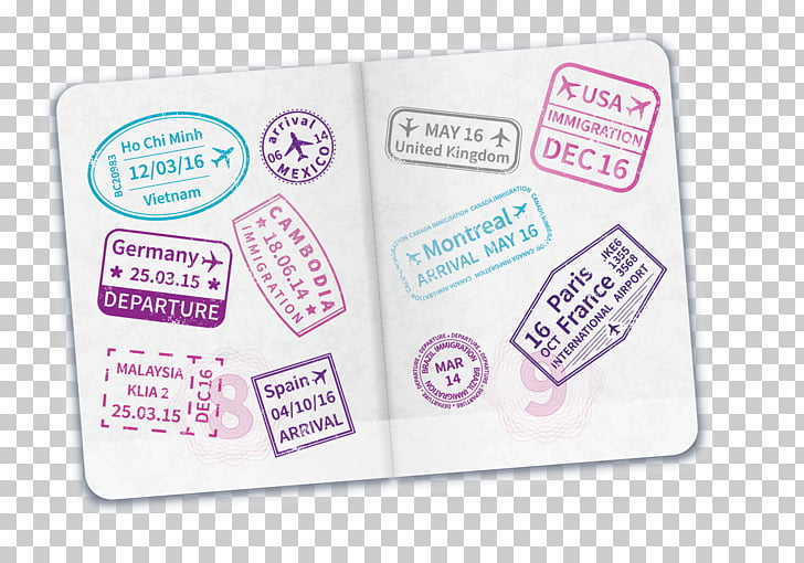 Passport stamp Travel visa Immigration, passport PNG clipart.
