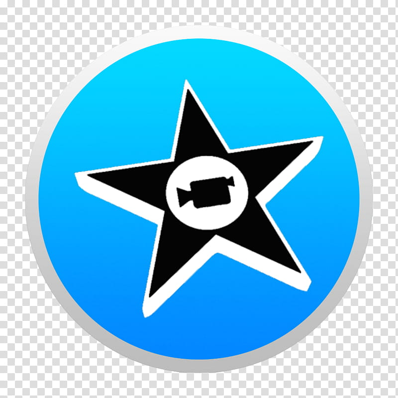 Black And Colorful Yosemite Style Icons, Blue iMovie W: BG.