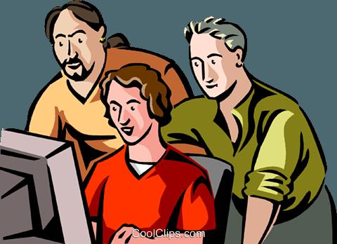impiegati osservando colleghi di lavoro immagini grafiche.