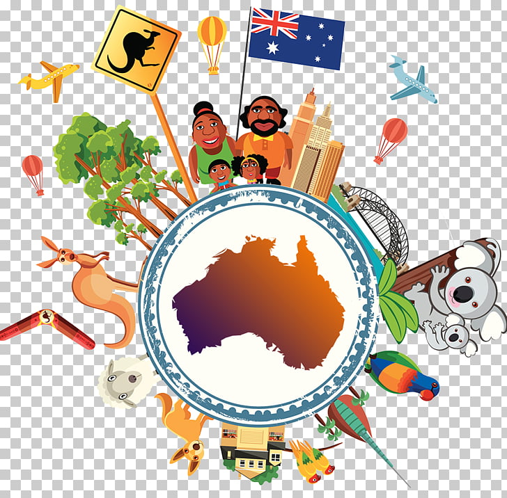 Australia Stock illustration, Australian travel animal.