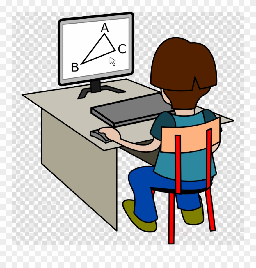 Download Solving Sums On Computer Clipart Mathematics.
