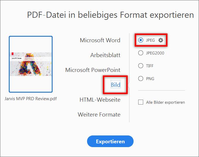 Konvertieren von PDF.