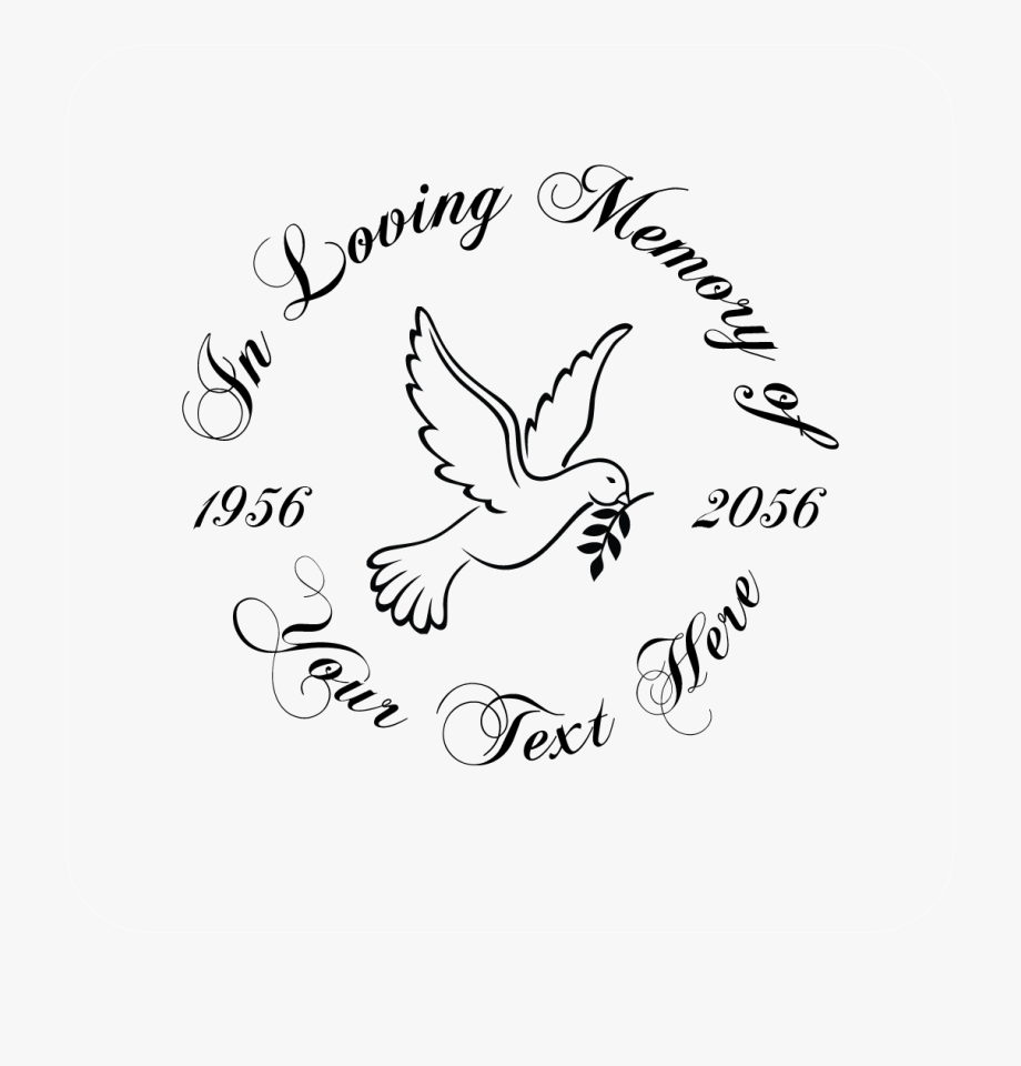 In Loving Memory Dove Decal.