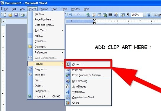How To Clipart On Microsoft Word.