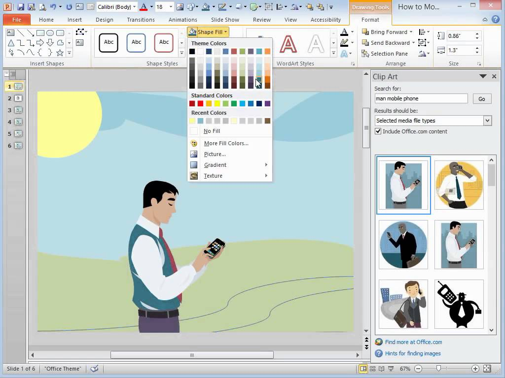 clipart in powerpoint 2013.