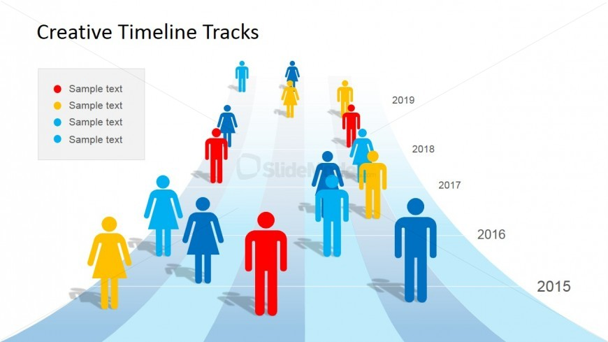 People & Timeline Clipart for PowerPoint.