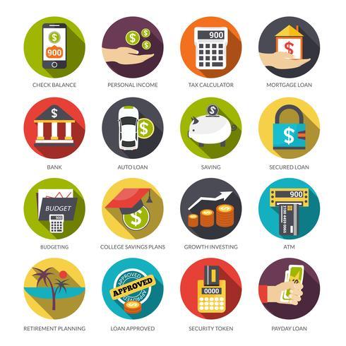 Loan Icons Set.