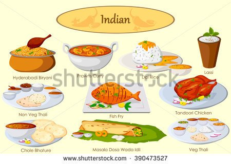 Indian Food Clipart Black And White.
