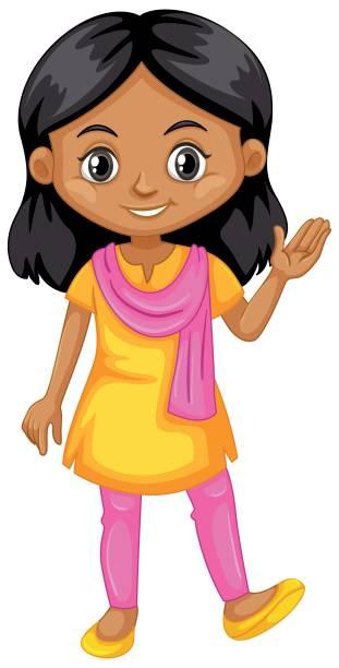 Best Indian Girl Illustrations, Royalty.