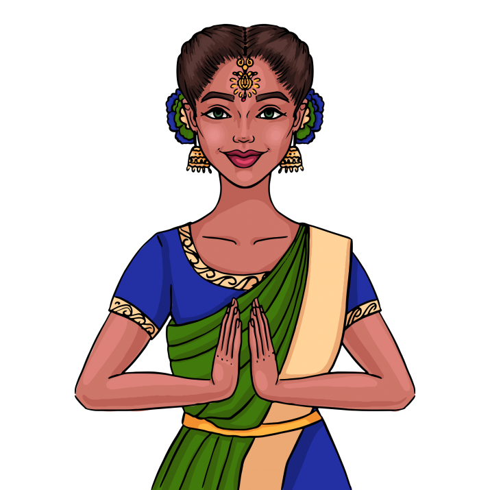 Indian Girl Clipart PNG Image Free Download searchpng.com.