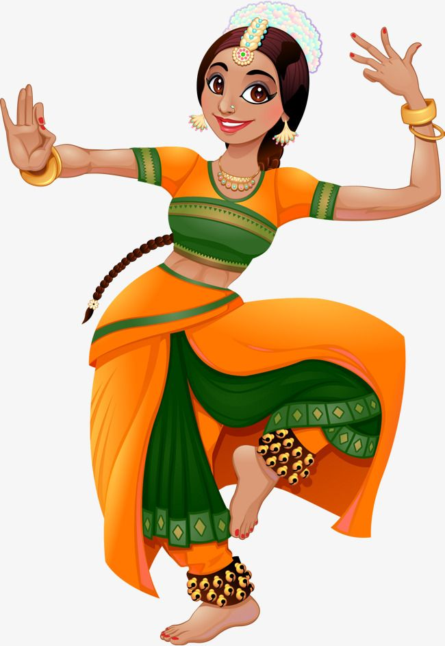 Vector Hand Painted Indian Girl, Vector, Hand Painted, India PNG.