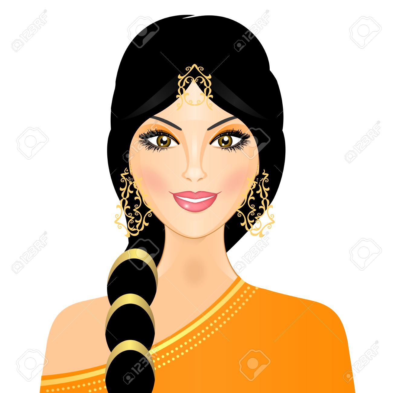 Indian girl clipart 8 » Clipart Station.