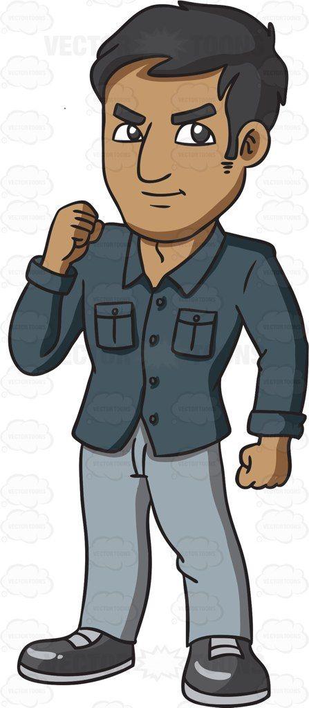 A tough looking Indian man #cartoon #clipart #vector #vectortoons.