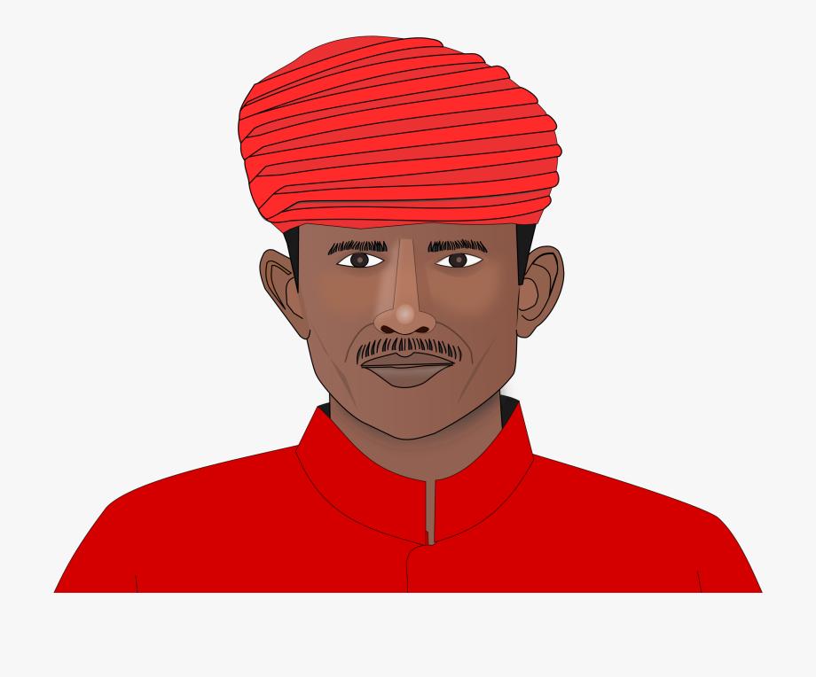 Turban Drawing Man Indian.