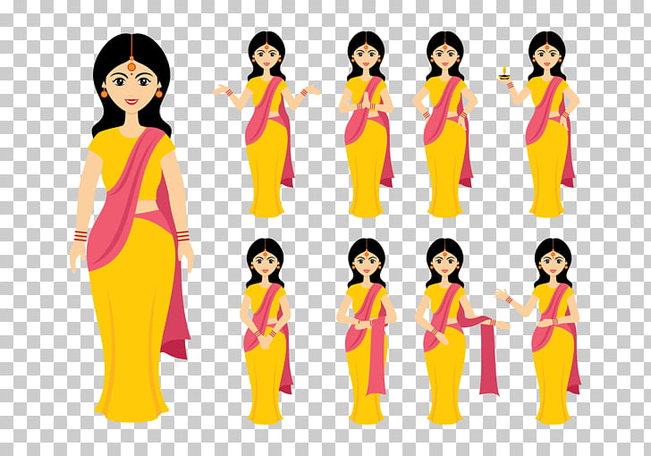 India Woman , indian PNG clipart.