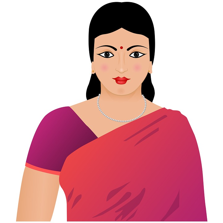 20817 Indian free clipart.