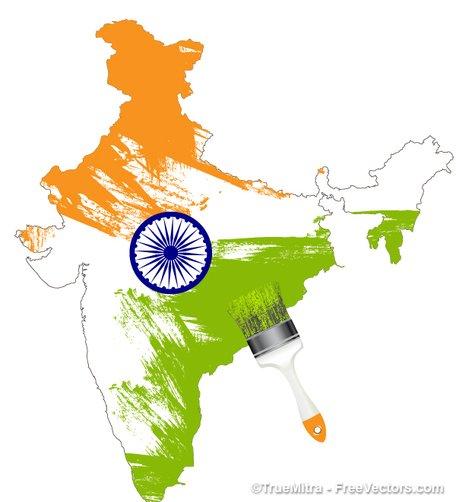 Imágenes clip art y gráficos vectoriales Mapa indio gratuitos.