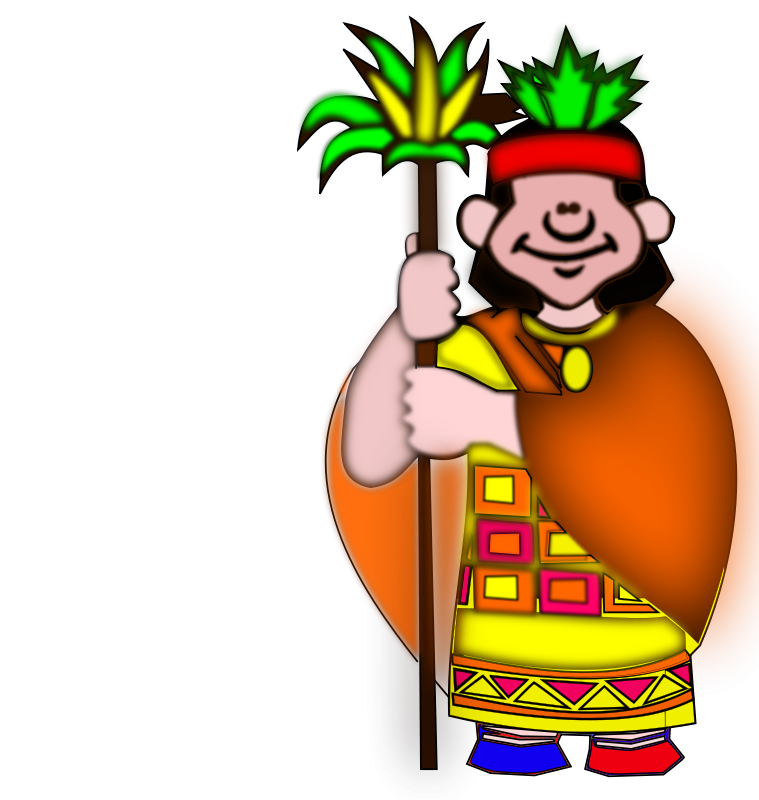 Free Clipart: Indio casique.