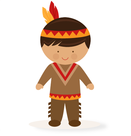 Thanksgiving Boy Native American SVG scrapbook cut file cute clipart.