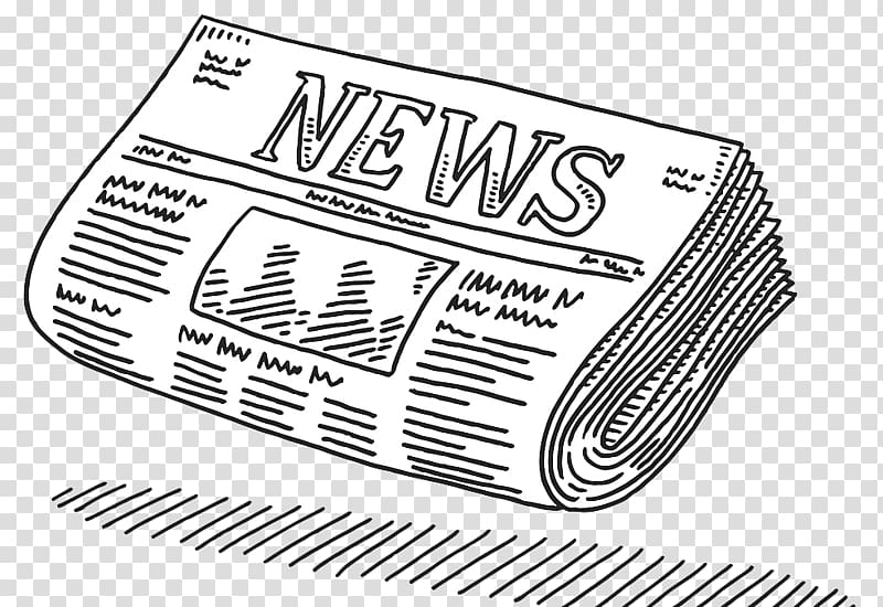 Newspaper , Drawing Newspaper Journalism , A pencil.