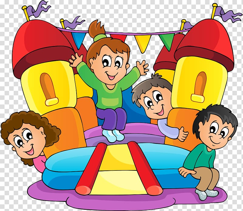 Inflatable Bouncers , Children transparent background PNG.