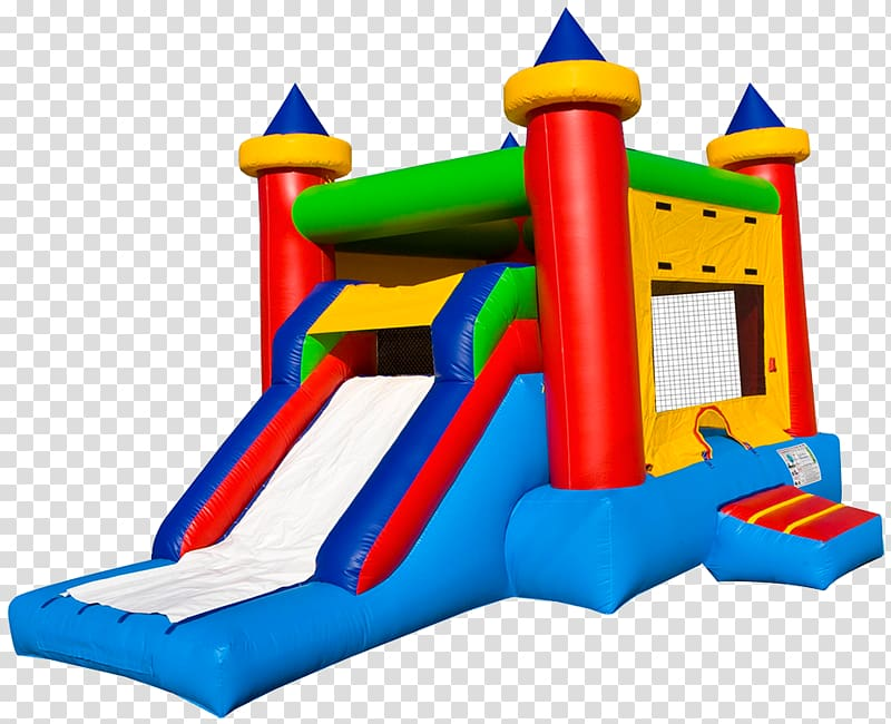 Inflatable Bouncers Castle Child Party, Castle transparent.