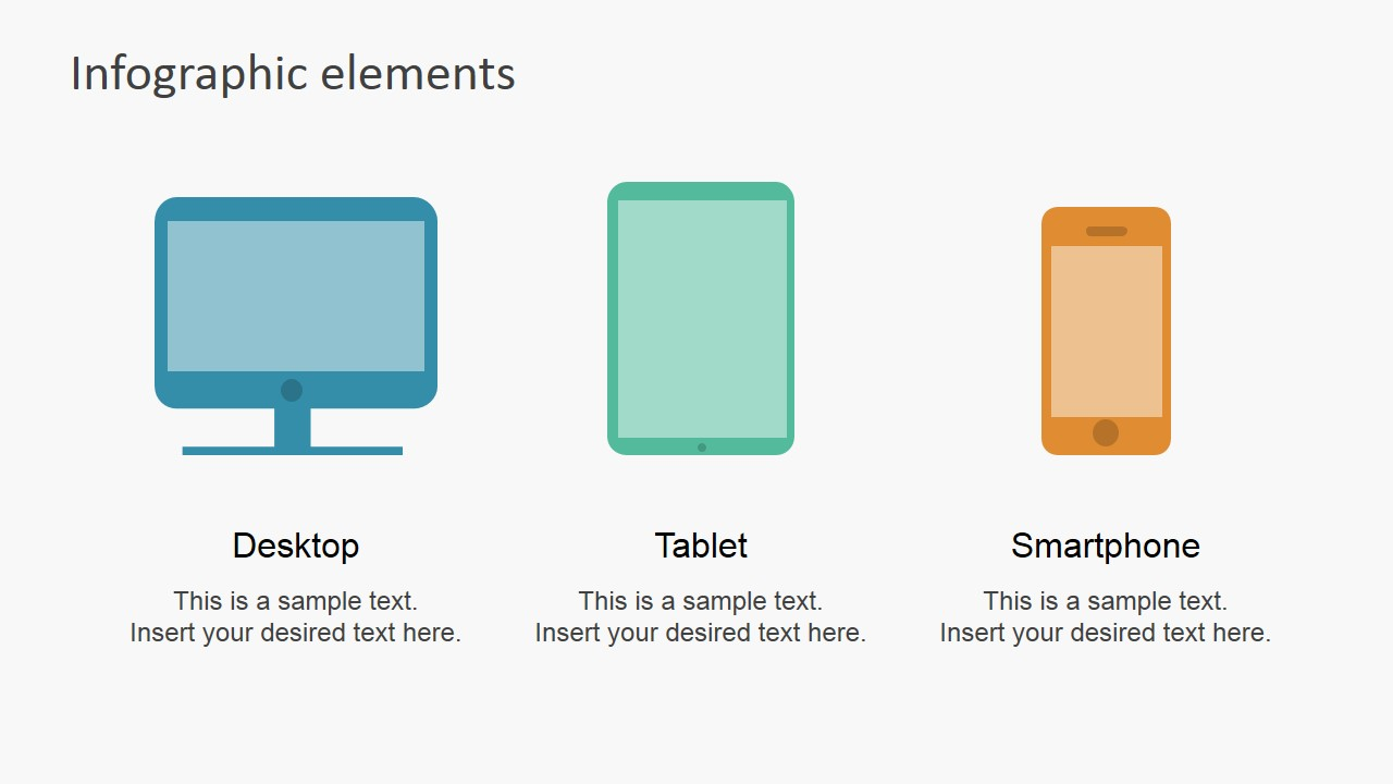 Data Infographic Flat Elements for PowerPoint.