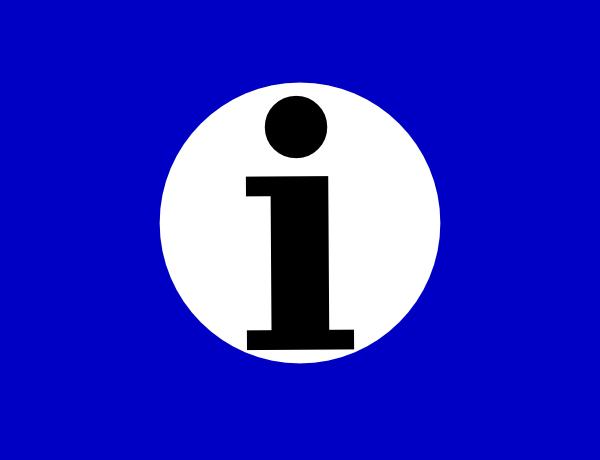 Information Icon Clip Art at Clker.com.