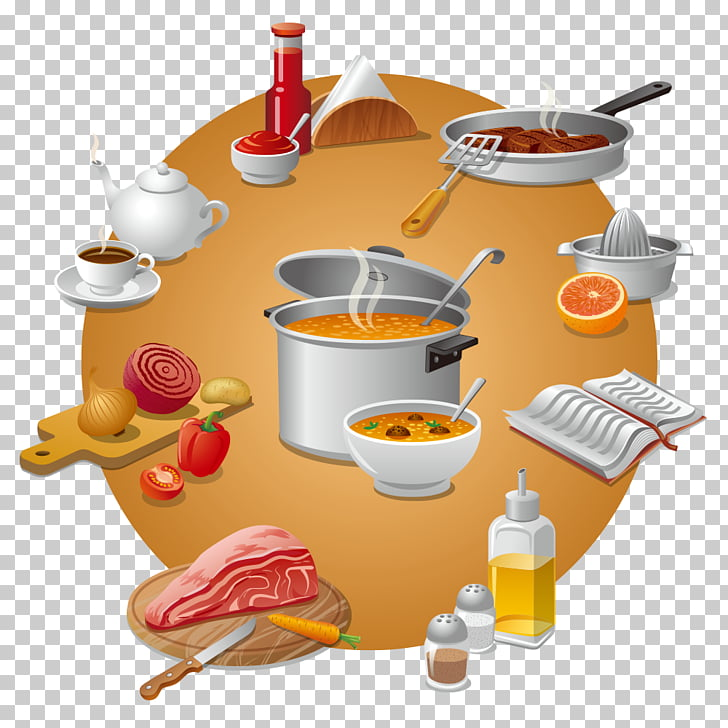 Illustration, ingredients kitchen PNG clipart.