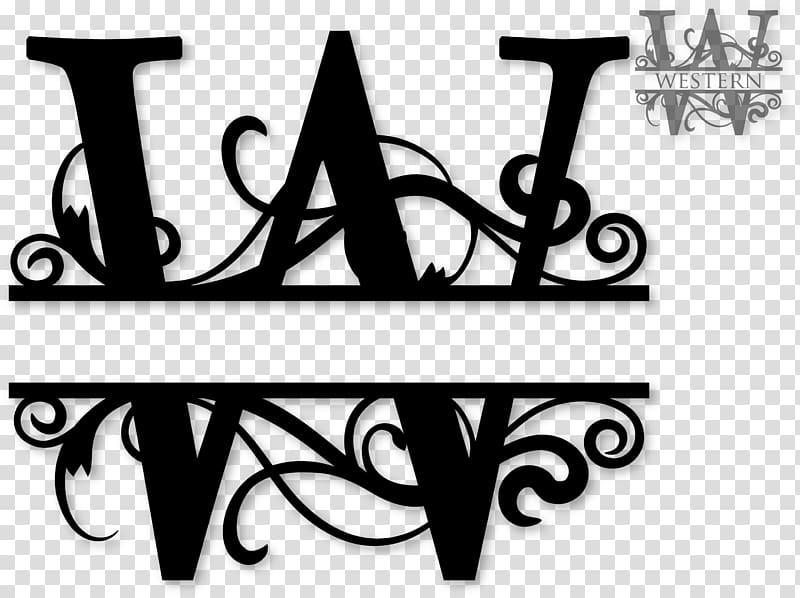 Monogram Letter Cricut , Initials transparent background PNG.
