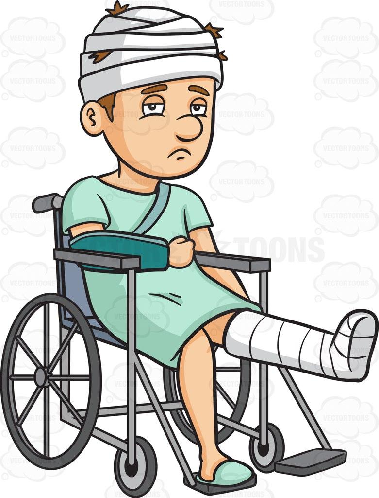 Injured Clipart.