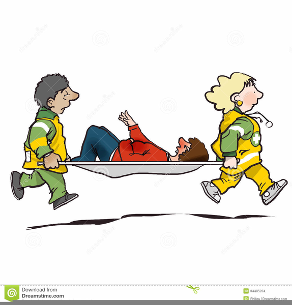 Clipart Of Injured Person.