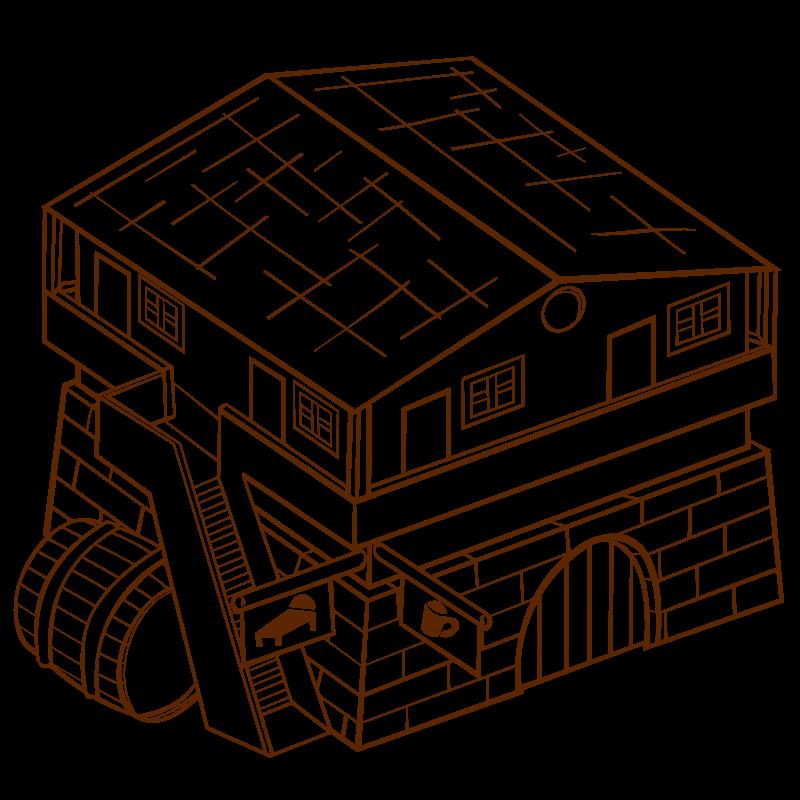 Free Clipart: RPG map symbols Inn 2.