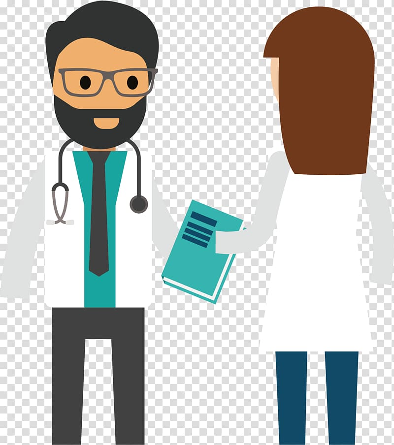 Health insurance Illustration, Doctor meets transparent.