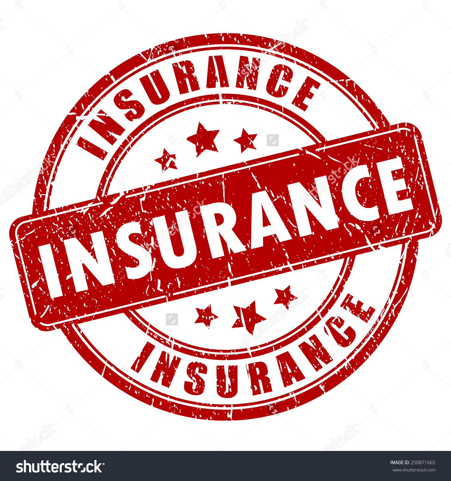 Insurance Stamp Stock Vector 250871665.