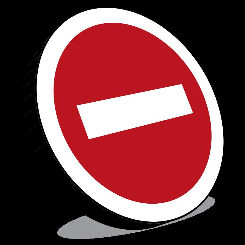 Free Clipart: No entry sign, Panneau sens interdit.