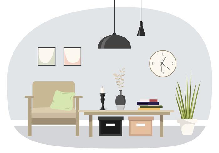 Vector Interior Design Illustration.