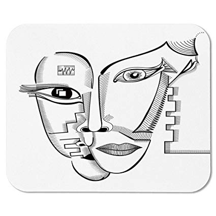 Amazon.com: Surrealistic Non Slip Mouse Pad,Modern Cubism.