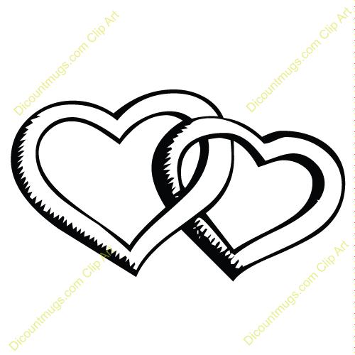 Interlocking Hearts Clipart.