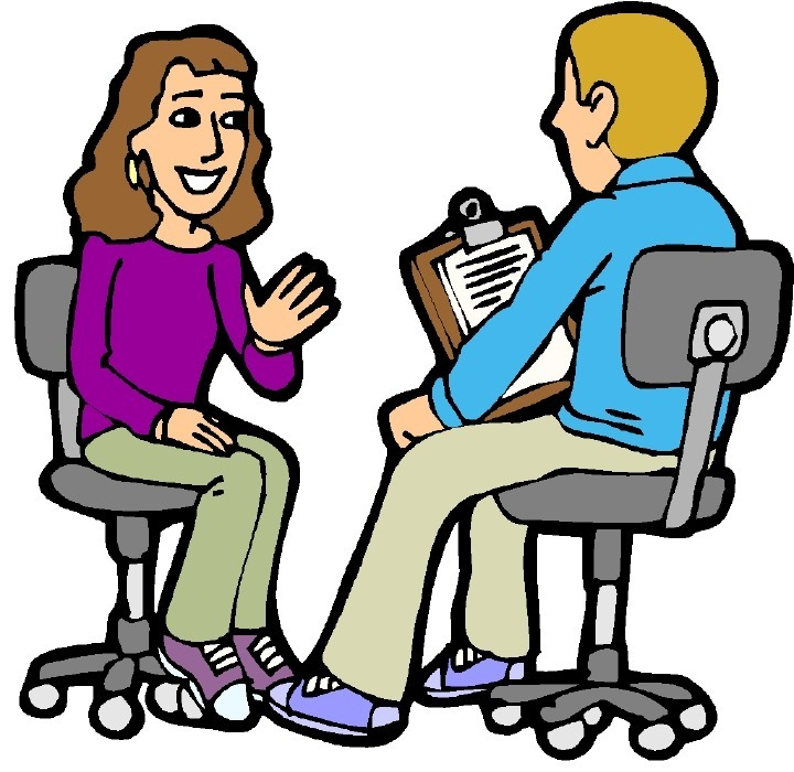 1810 Interview free clipart.
