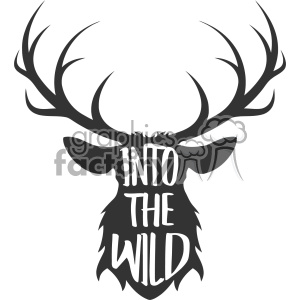 into the wild deer svg cut file vector design clipart. Royalty.